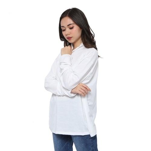 Rimas Fashion Manset Blouse Wanita - Putih Size L