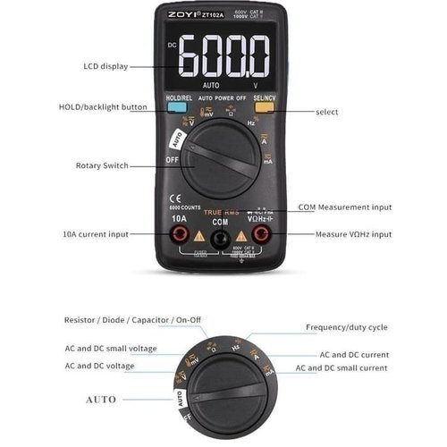ZOYI ZT Upgrade Auto Multimeter Digital Avometer Multitester