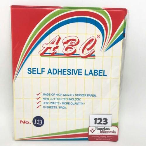 Stiker Labels 123 isi 25bks @ 10lbr