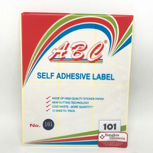 Stiker Labels 101 isi 25bks @ 10lbr