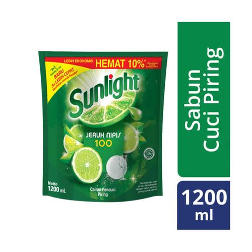 SUNLIGHT Lime Refill Sabun Pencuci Piring 1200 mL