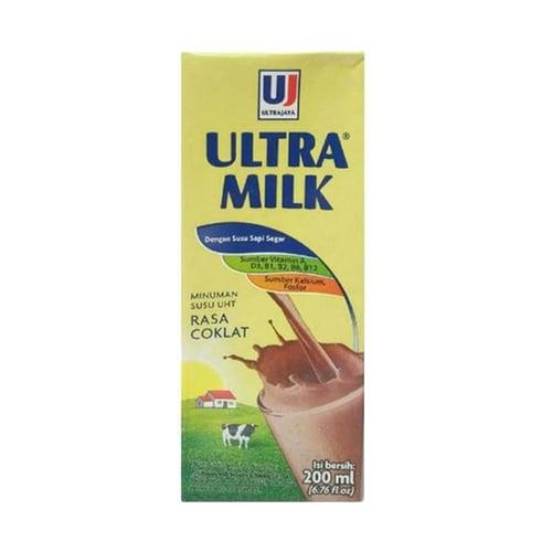 Susu Ultra Milk Cokelat Susu uht 200ml