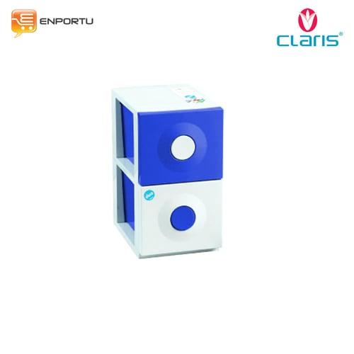 Claris Kabinet Duo 1175-2L Blue Rak Penyimpanan 2 Susun