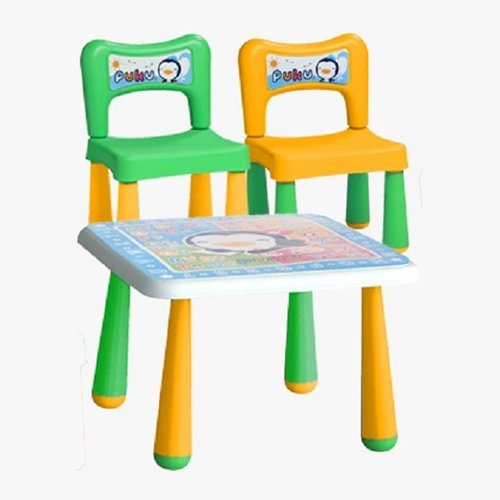 PUKU Baby Table and 2 Chair 30502 Yellow Green