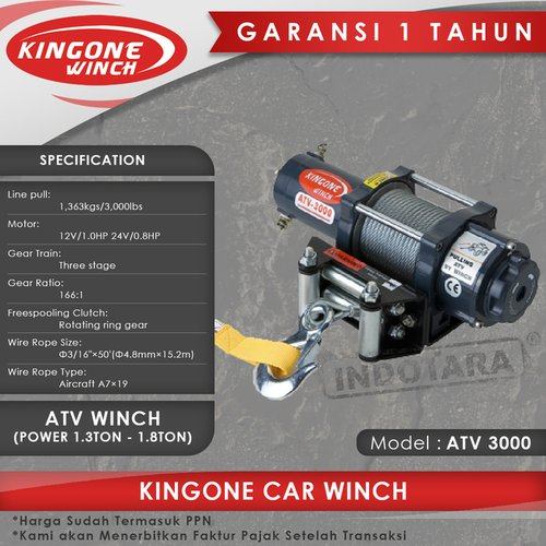 Kingone Car ATV Winch ATV 3000