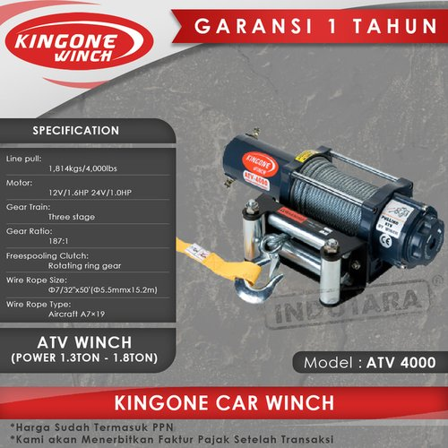 Kingone Car ATV Winch ATV 4000