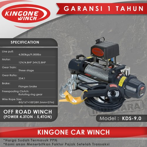 Kingone Car Off Road Winch KDS 9.0