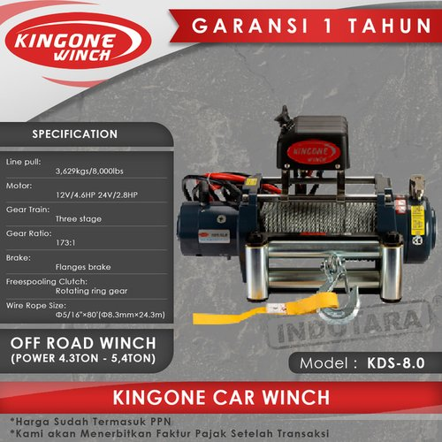 Kingone Car Off Road Winch KDS 8.0