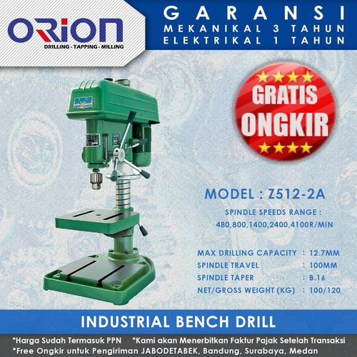 Mesin Bor Duduk Orion Industrial Bench Drill Z512-2A