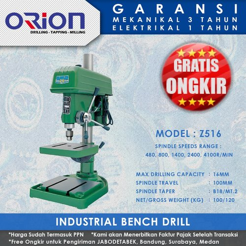 Mesin Bor Duduk Orion Industrial Bench Drill Z516