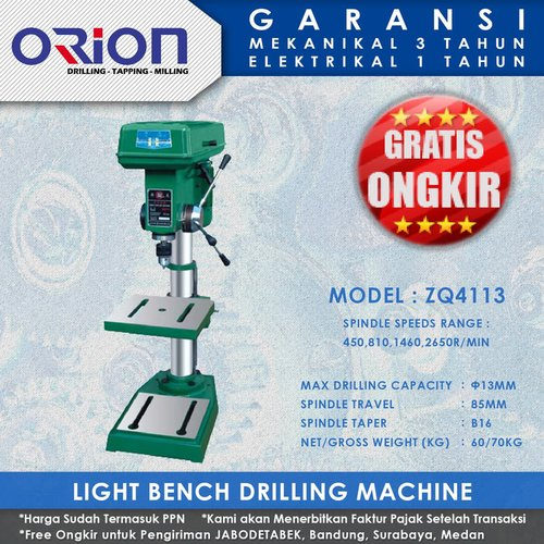 Mesin Bor Duduk Orion Light Bench Drilling Machine ZQ4113