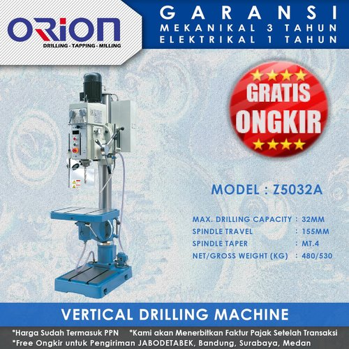 Mesin Bor Duduk Orion Vertical Drilling Machine Z5032A