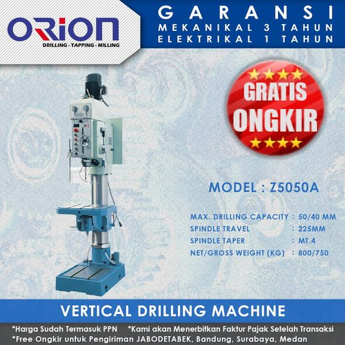 Mesin Bor Duduk Orion Vertical Drilling Machine Z5050A