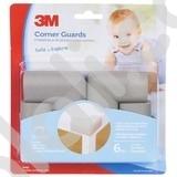 3M COMMAND SC-32 Child Corner Guard - Melindungi Anak dari Benturan Siku Sudut Meja - 4each/pck - Abu