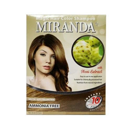 MIRANDA Magic Hair Color Shampoo MS-14 Golden Brown