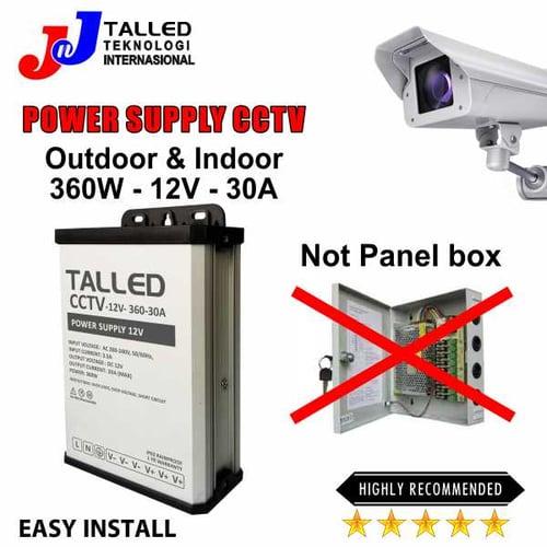 POWER SUPPLY CCTV BOX 12V 360W 12A OUTDOOR- INDOOR GARANSI 1 TH TALLED