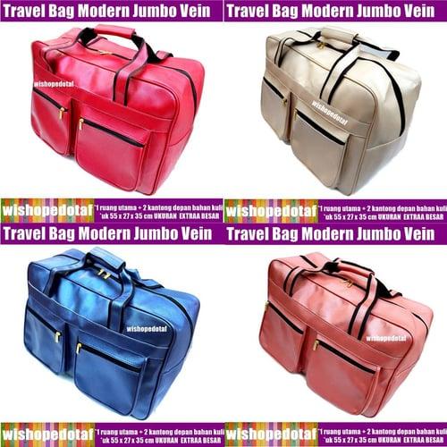 Tas Leather Travel  Vein Modern Jumbo