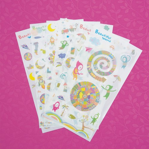 Beautiful World Diary Deco Stickers / Sticker Unik / Sticker Lucu