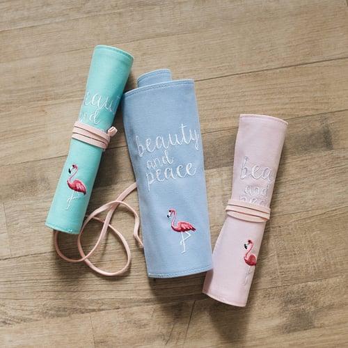 Beauty and Peace Roll Up Pencil Case / Tempat Pensil / Alat Tulis