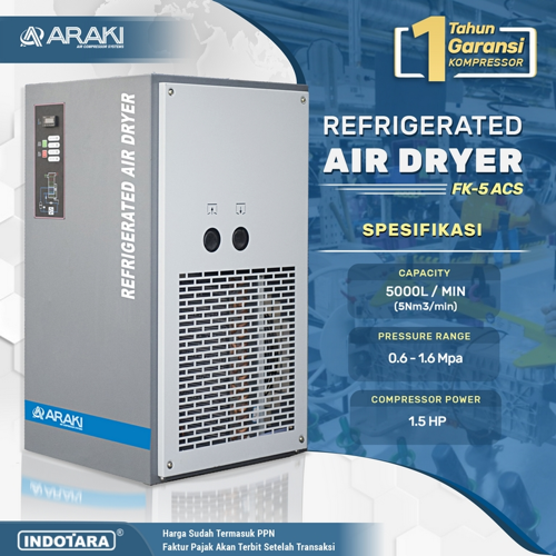 Refrigerated Air Dryer FK-5 ACS - Araki