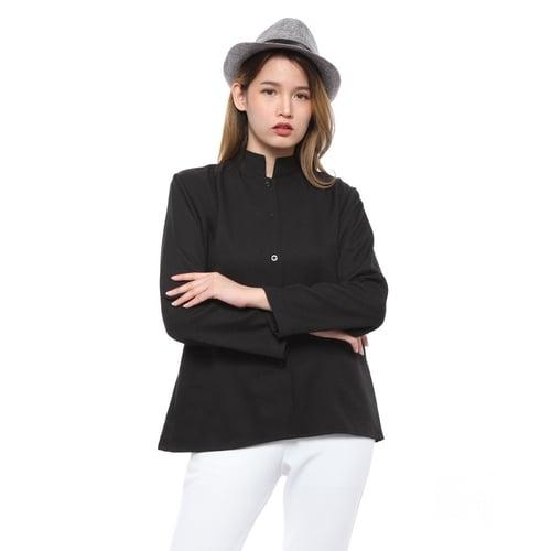 Rimas 9342 Polos Fashion Blouse Wanita - Hitam Size L