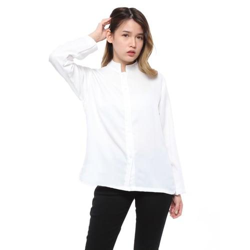 Rimas 9342 Polos Fashion Blouse Wanita - Putih Size XXL