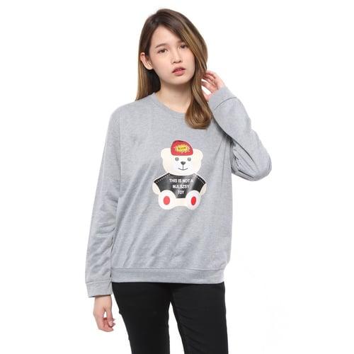 Rimas Debest Bear Sweater Wanita - Abu Muda Size L