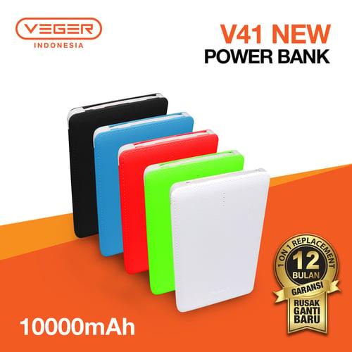 Powerbank VEGER V41 10000mAh ultra thin Slim Original Garansi 1 tahun