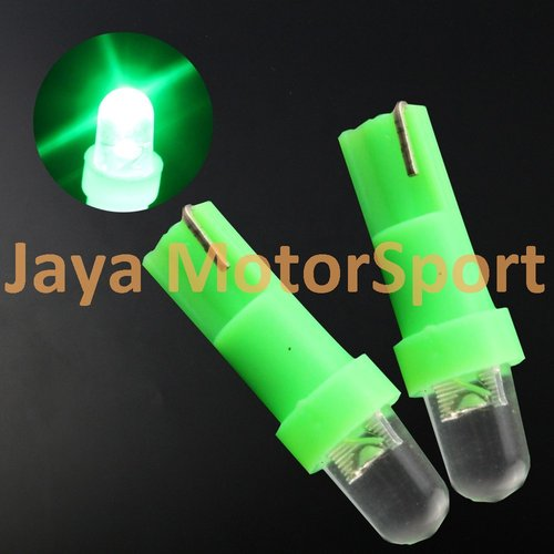 JMS - Lampu LED Mobil / Motor / Speedometer / Dashboard T5 1 SMD Convex - Green