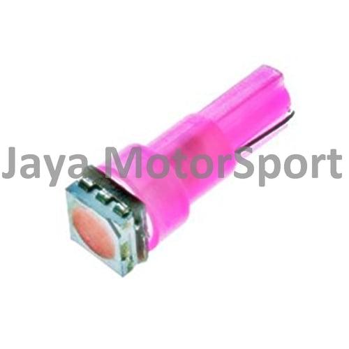 JMS - Lampu LED Mobil / Motor / Speedometer / Dashboard T5 1 SMD 5050 - Pink