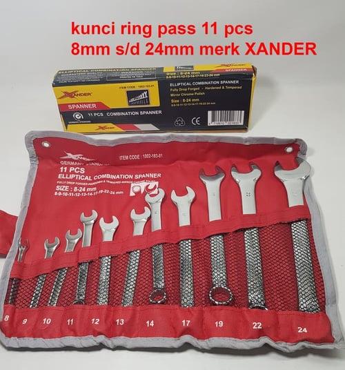 KUNCI RING PAS 11 Pcs XANDER 8mm - 24mm PAKET