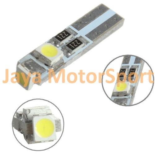 JMS -Lampu LED Mobil / Motor / Speedometer / Dashboard T5 PCB 3 SMD 1210 Blue - Model Nyamping