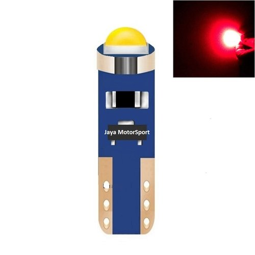 JMS - Lampu LED Mobil Motor Speedometer Dashboard Kabin Panel T5 Canbus Cree 1 SMD - Red