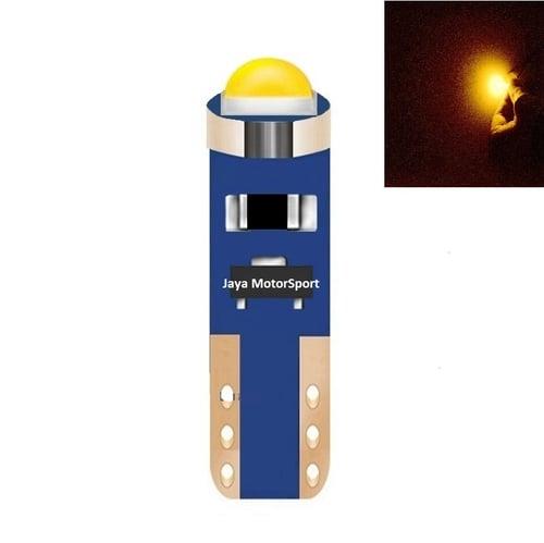 JMS - Lampu LED Mobil Motor Speedometer Dashboard Kabin Panel T5 Canbus Cree 1 SMD - Yellow