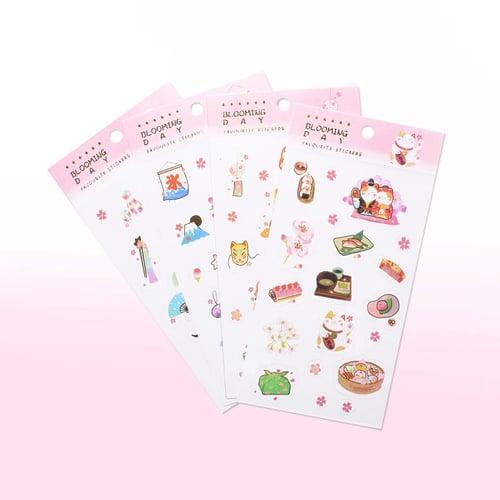 Blooming Day Diary Deco Stickers / Sticker Unik / Sticker Lucu