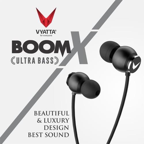 VYATTA BOOM X Premium Earphone/Headset/Handsfree - ULTRA BASS (METAL) - GOLD