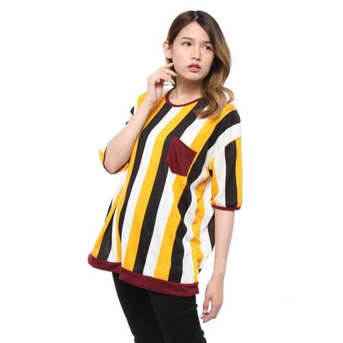 Rimas Nadia Salur Blouse Wanita - Mustard Size XXL