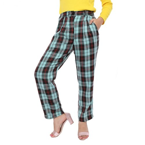 Rimas C.9021 Kotak-Kotak Celana Panjang Wanita - Tosca Size L