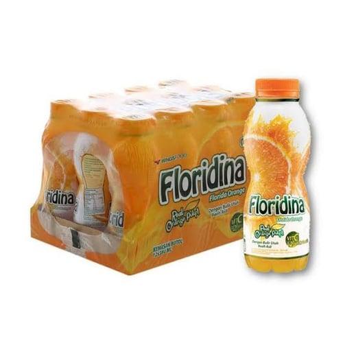 Floridina orange jeruk pulp isi 12 botol x 350 ml
