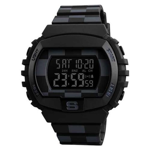 Skmei 1304 Sporty Jam Tangan Digital Pria - Hitam Putih