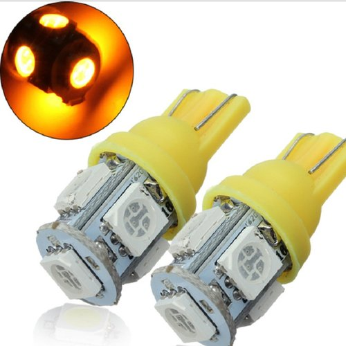 JMS - Lampu LED Mobil / Motor / Senja T10 W5W / Wedge Side 5 SMD 5050 - Yellow