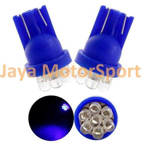 JMS - Lampu LED Mobil / Motor / Senja T10 / W5W Convex 7 SMD - Blue