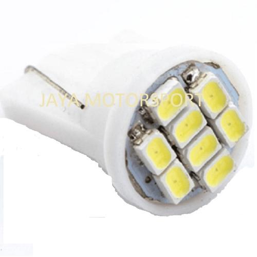 JMS - Lampu LED Mobil / Motor / Senja T10 8 SMD 3020 - White