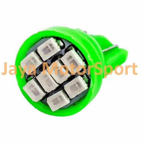 JMS - Lampu LED Mobil / Motor / Senja T10 8 SMD 3020 - Green