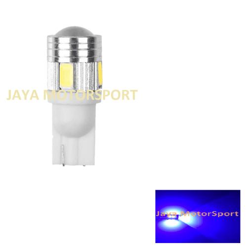 JMS - Lampu LED Mobil Motor Senja Sein T10 6 SMD 5630 - Blue