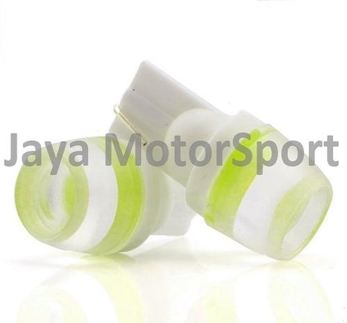 JMS - Lampu LED Mobil / Motor / Senja T10 W5W / Wedge Side F10 Concave - Yellow