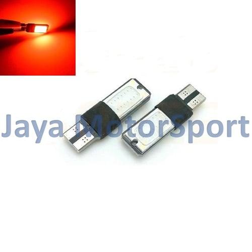 JMS - Lampu LED Mobil / Motor / Senja T10 / Wedge Side Canbus COB 24 SMD - Red