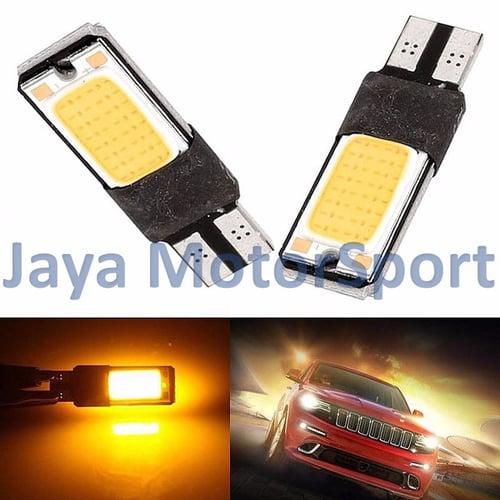 JMS - Lampu LED Mobil / Motor / Senja T10 / Wedge Side Canbus COB 24 SMD - Yellow