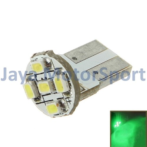 JMS - Lampu LED Mobil / Motor / Senja T10 / Wedge Side PCB 5 SMD 1210 - Green