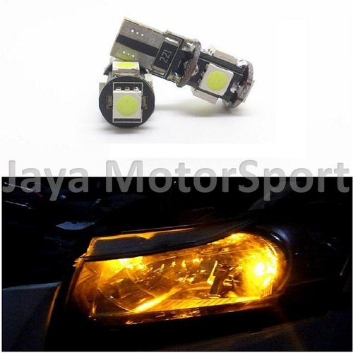 JMS - Lampu LED Mobil / Motor / Senja T10 w5w / Wedge Side Canbus 5 SMD 5050 - Yellow